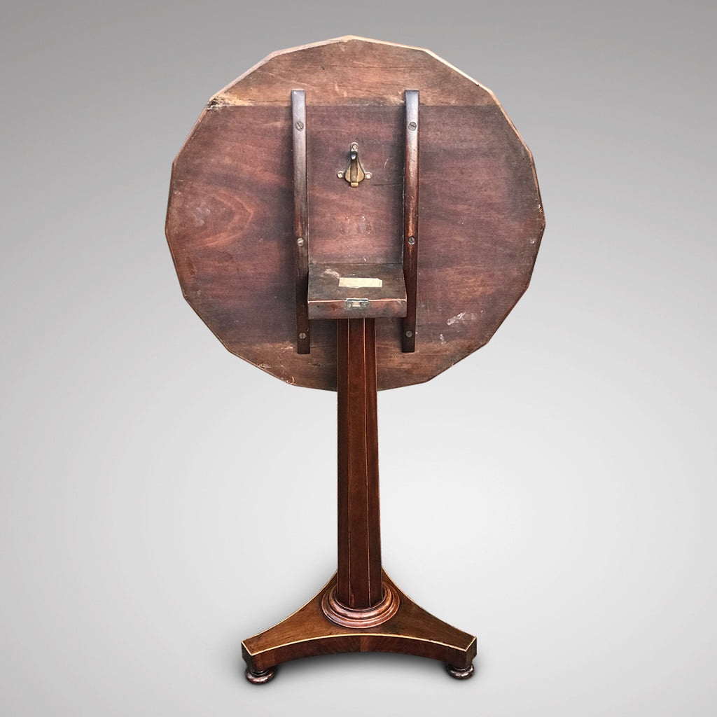 William IV Mahogany Tilt Top Table - Back View - 3