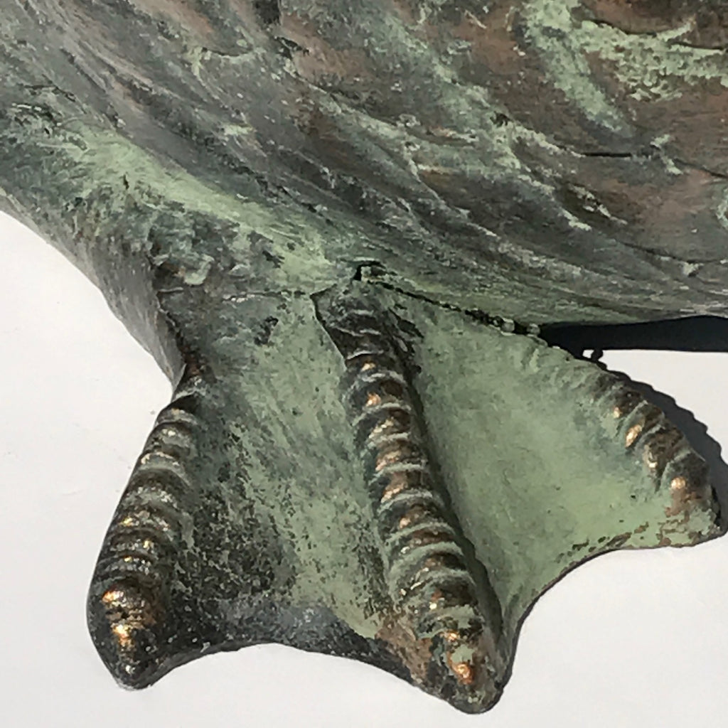 20th Century Cast Copper Alloy Swan - Foot Detail View - 8