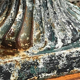 Pair of Victorian Cast Iron Urns on Plinths - Detail View - 5
