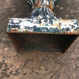 Pair of Victorian Cast Iron Urns on Plinths - Base View - 7