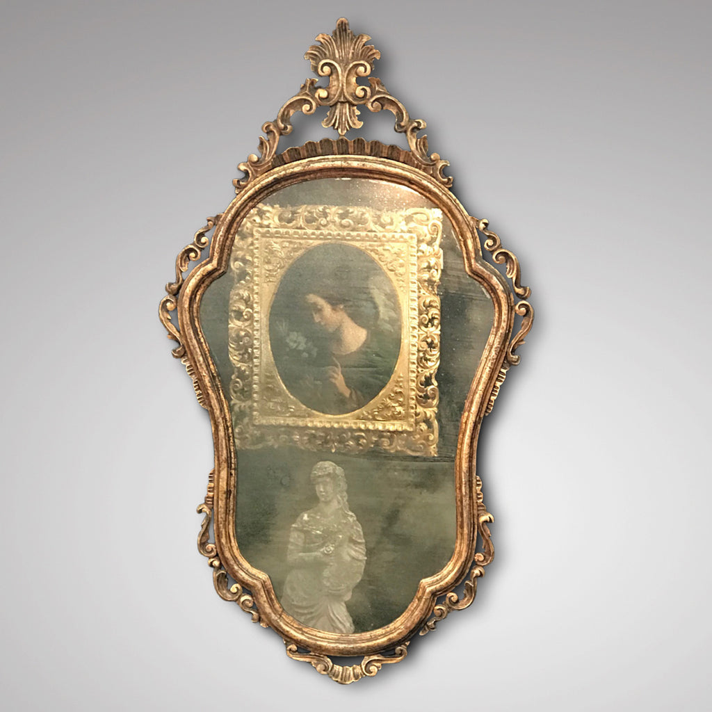 Pair of Early 20th Century Italian Silver Gilt Mirrors - View of Mirror Plate - 3