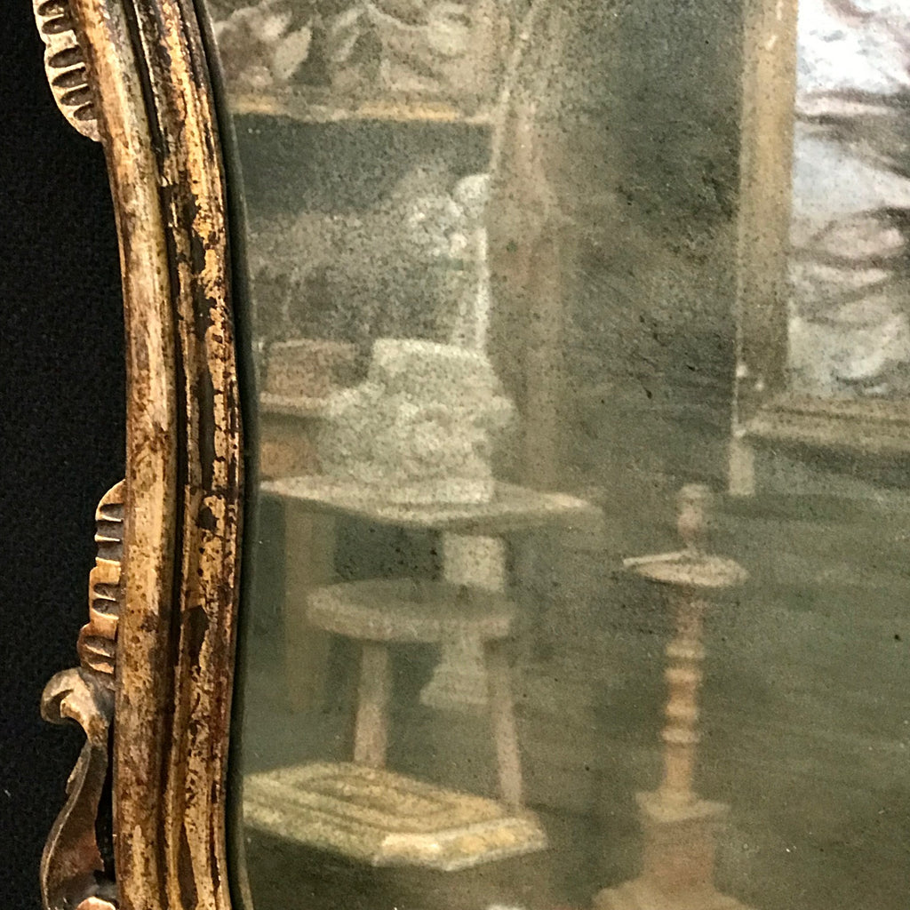 Pair of Early 20th Century Italian Silver Gilt Mirrors - Detail of Mirror Plate - 6