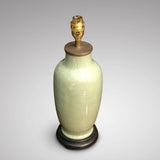 19th Century Chinese CeladonTable Lamp - Main View Without Shade - 2