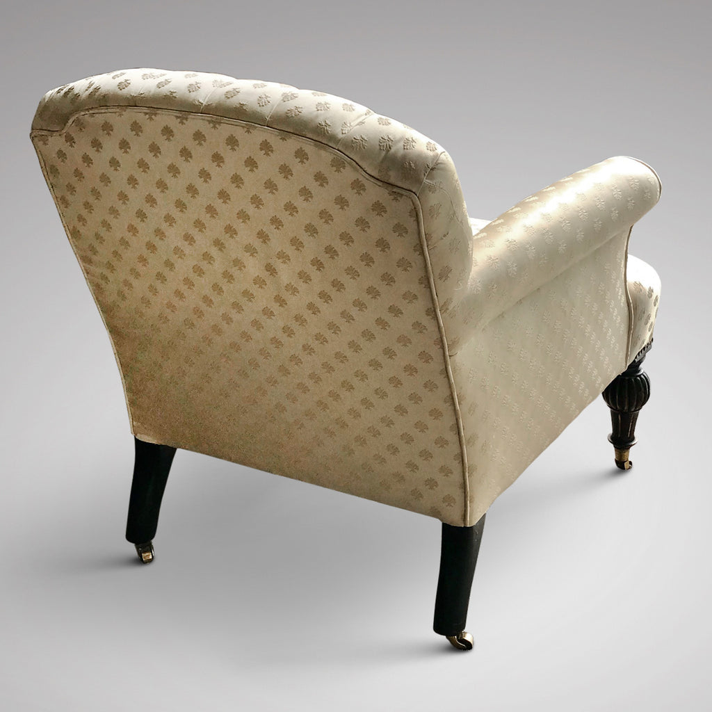 Victorian Buttoned Back Armchair - Back View - 2