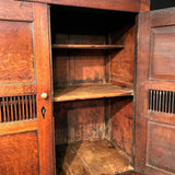 Early 19th Century Welsh Oak Bread & Cheese Cupboard - Inside Cupboard View - 3