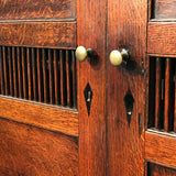 Early 19th Century Welsh Oak Bread & Cheese Cupboard - Brass Door Knob Detail - 5
