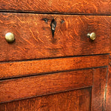 Early 19th Century Welsh Oak Bread & Cheese Cupboard - Drawer Detail View - 6