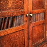 Early 19th Century Welsh Oak Bread & Cheese Cupboard - Spindle Detail View - 4