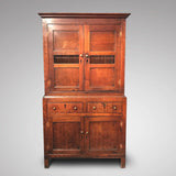 Early 19th Century Welsh Oak Bread & Cheese Cupboard - Front View - 1