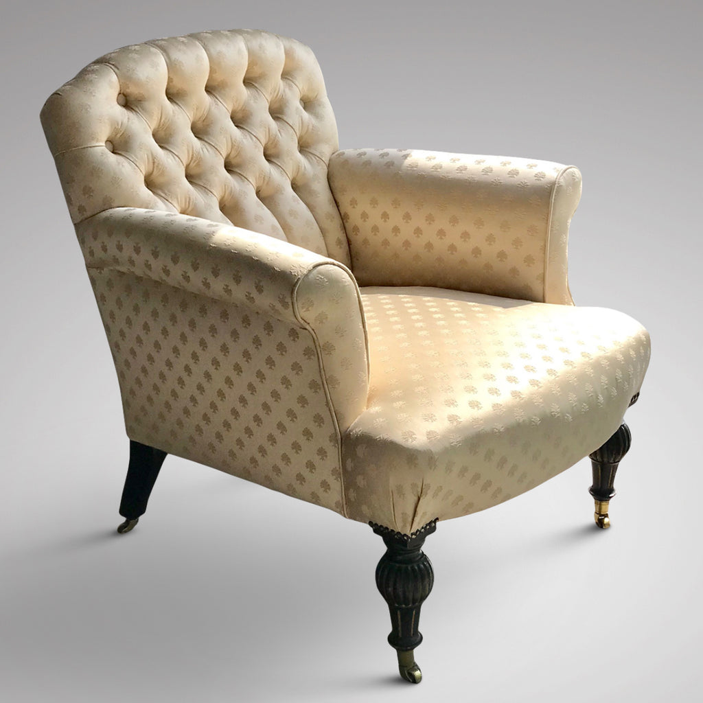 Victorian Buttoned Back Armchair - Main View - 1