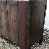 Early 19th Century Welsh Oak Bread & Cheese Cupboard - Back & Side Detail View - 7