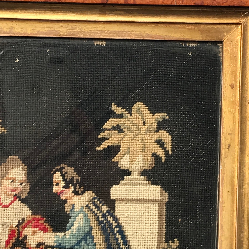 19th Century Needlework Picture in Maple Frame - Detail View - 3