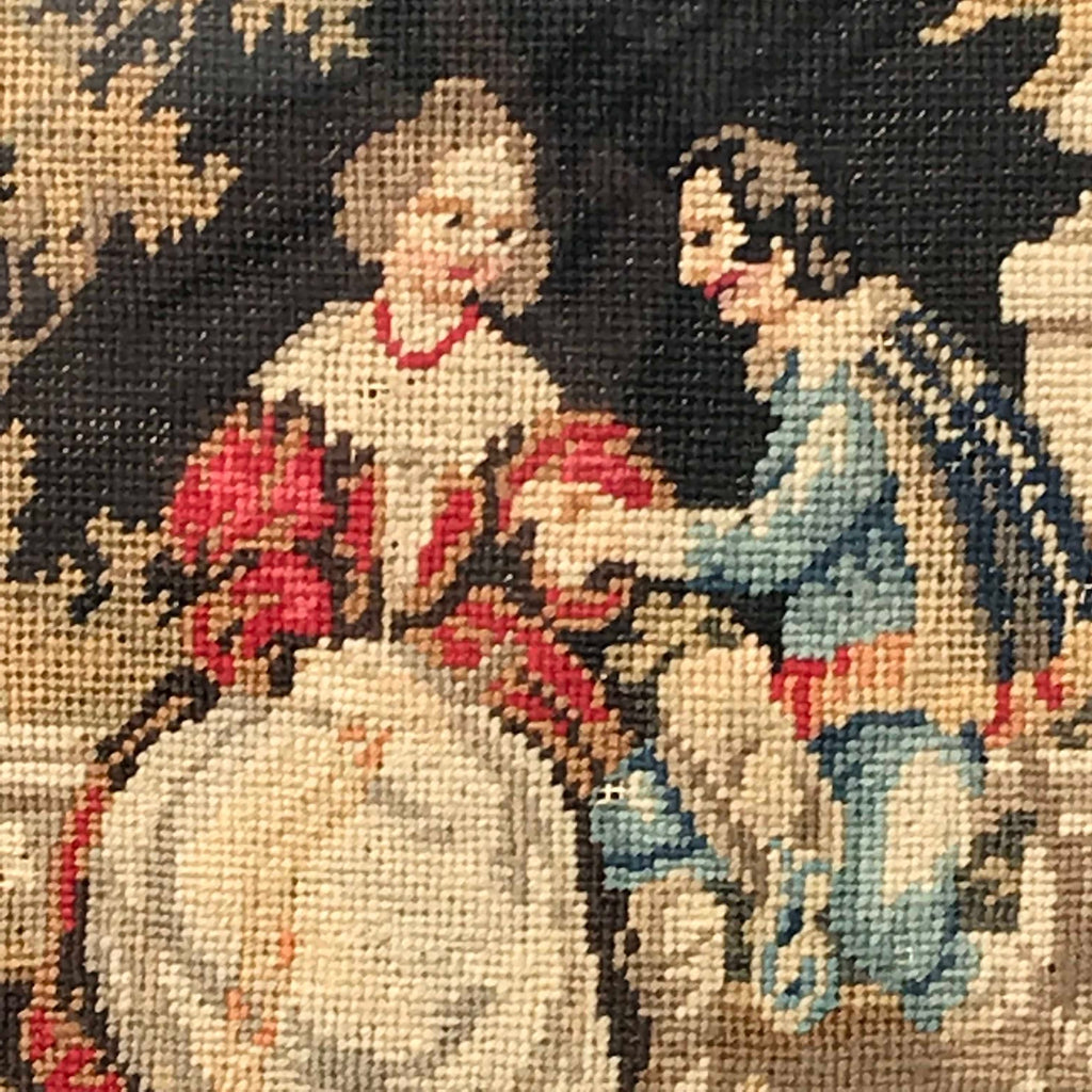 19th Century Needlework Picture in Maple Frame - Detail View - 2