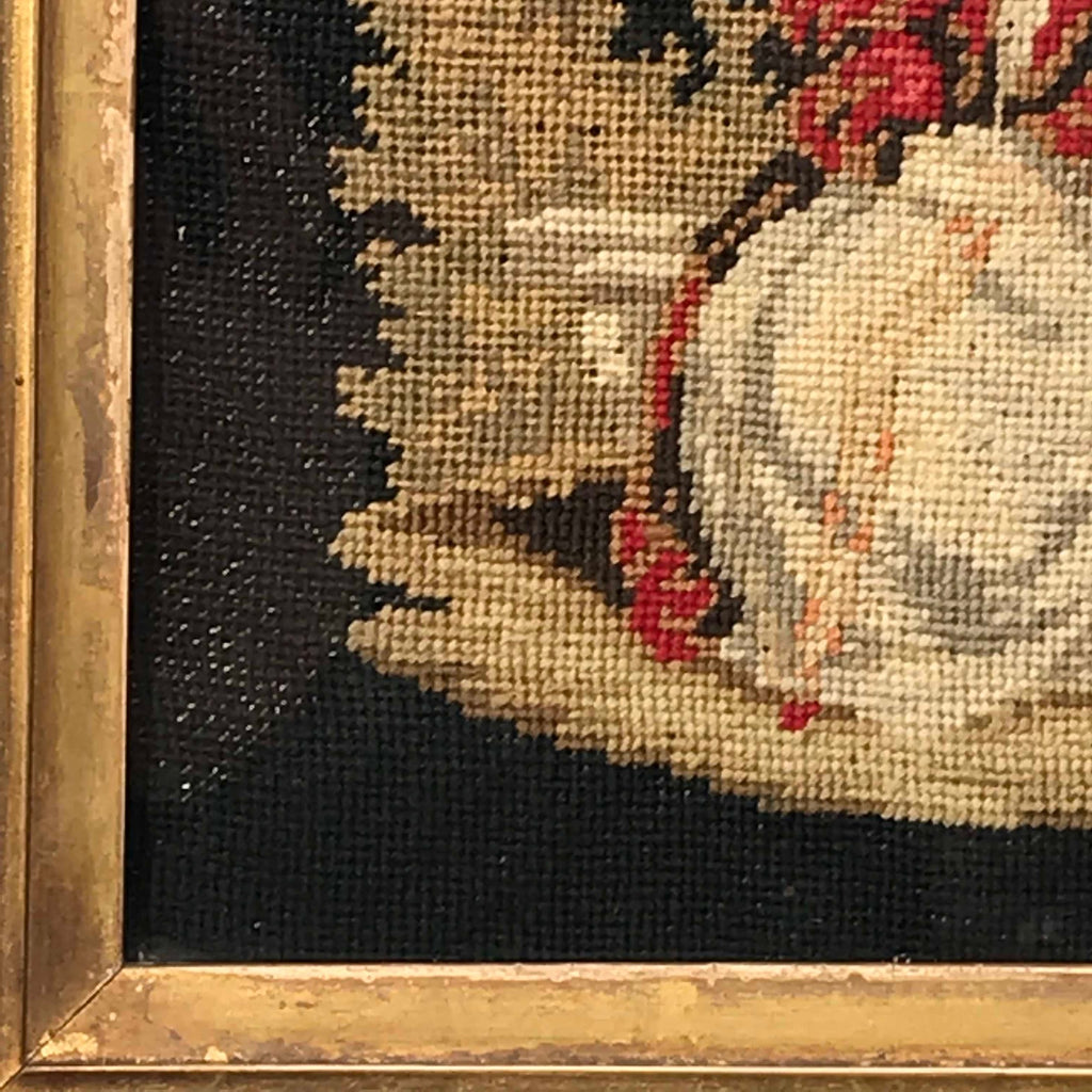 19th Century Needlework Picture in Maple Frame - Detail View - 4