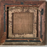 19th Century Needlework Picture in Maple Frame - Back View - 5