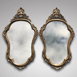Pair of Early 20th Century Italian Silver Gilt Mirrors - Main View - 1