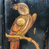 Early 18th Century Chinoiserie Corner Cupboard - Parrot Decoration Detail - 3
