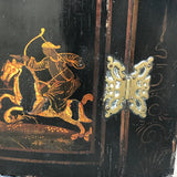 Early 18th Century Chinoiserie Corner Cupboard - Decoration & Hinge Detail -7