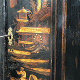 Early 18th Century Chinoiserie Corner Cupboard - Decoration & Key Detail - 8
