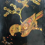 Early 18th Century Chinoiserie Corner Cupboard - Parrot Decoration Detail - 2