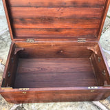 19th Century Padouk Campaign Trunk - Inside View - 9