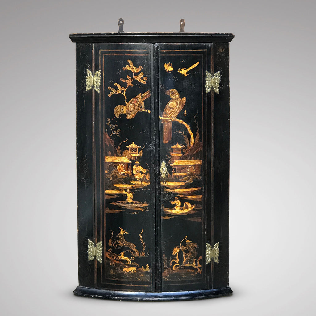 Early 18th Century Chinoiserie Corner Cupboard - Front View - 1