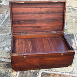 19th Century Padouk Campaign Trunk - Inside View with Tray - 11