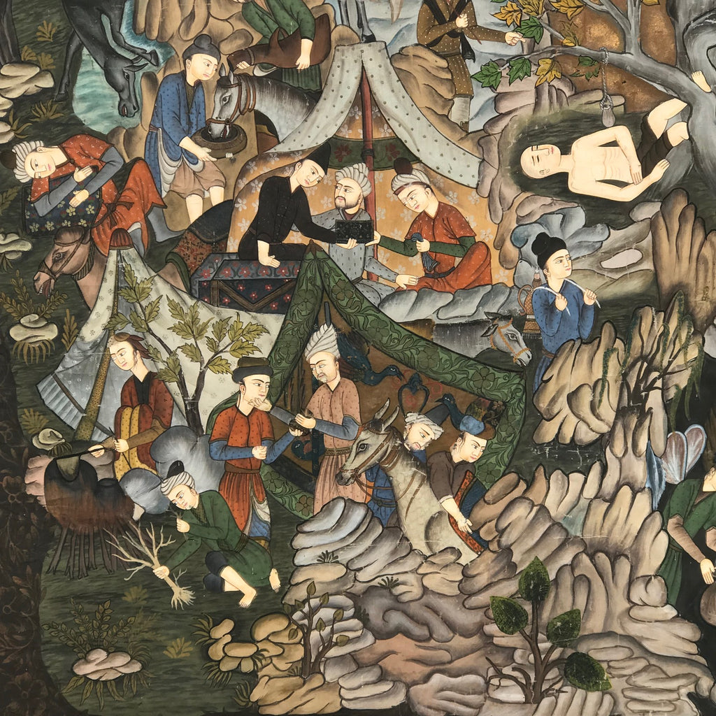 Indian School Painting of a Mogul's Camp - Detail View - 4