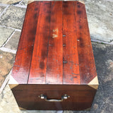 19th Century Padouk Campaign Trunk - Top & Side View - 5