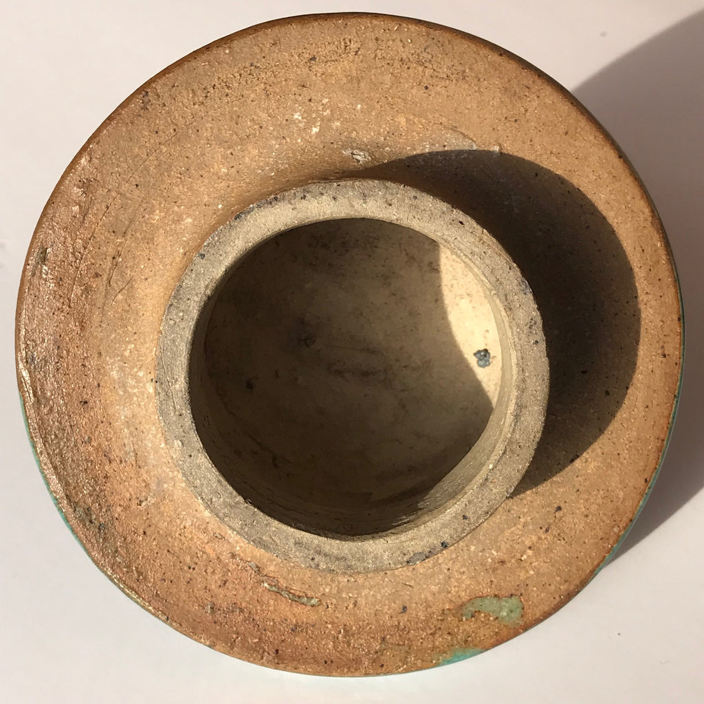 19th Century Chinese Jun Stoneware Vase & Cover - Underside of Cover - 10