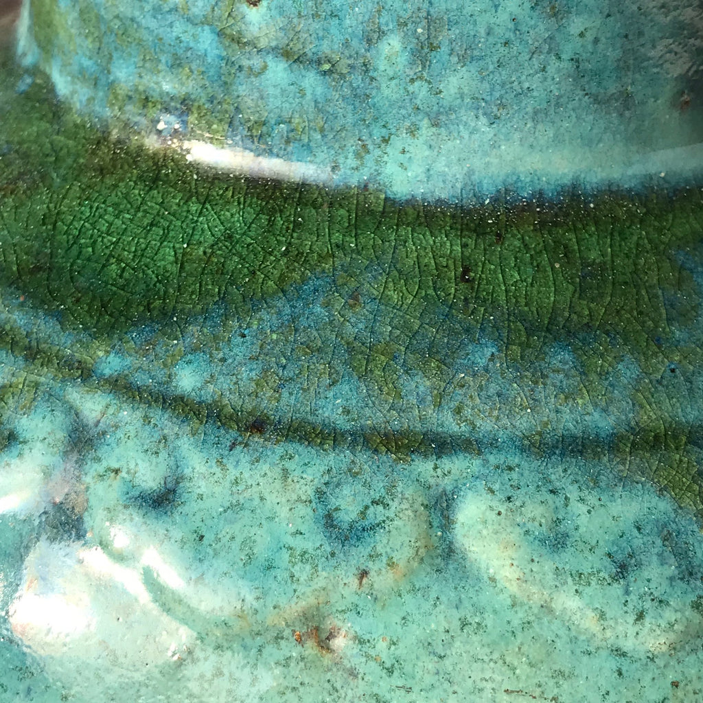 19th Century Chinese Jun Stoneware Vase & Cover - Detail of Glaze - 3