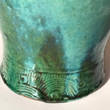 19th Century Chinese Jun Stoneware Vase & Cover - Detail of Base Decoration - 4