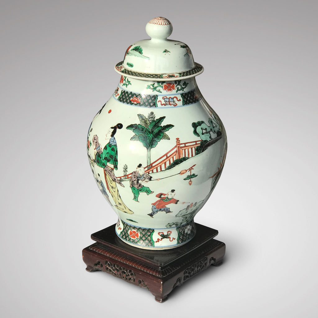 Late 18th/Early 19th Century Chinese Vase with Bud Finial - Front View - 3