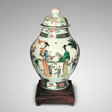 Late 18th/Early 19th Century Chinese Vase with Bud Finial - Front View-1