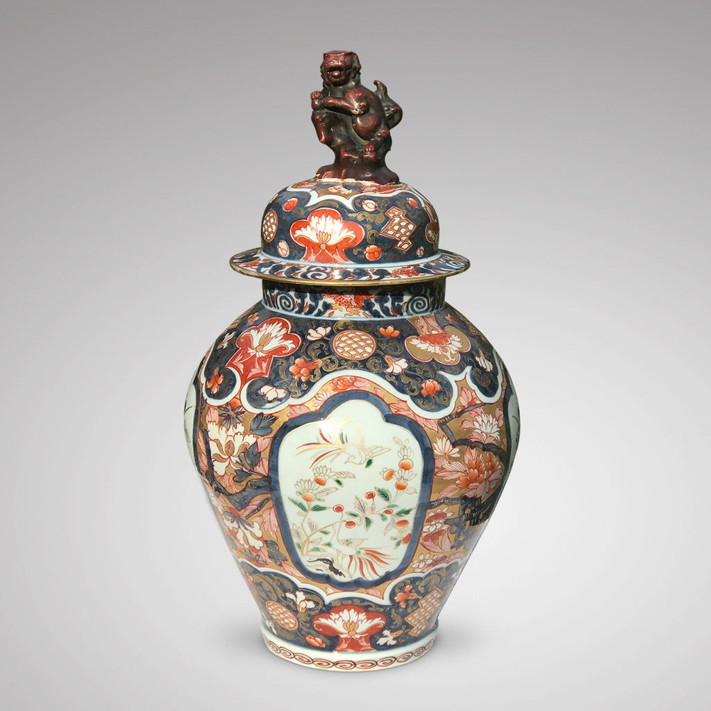 18th Century Imari Vase with Domed Cover - Main View - 2