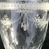 Pair of 19th Century Glass Urns - Glass Etching Detail - 2