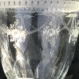 Pair of 19th Century Glass Urns - Glass Etching Detail - 3