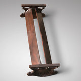 19th Century Mahogany Book Trough with Shell Ends - Underside View - 3