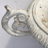Pair of 19th Century Cast Iron Twin Handled Garden Urns - Detail View - 4