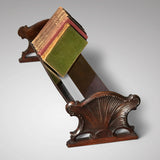 19th Century Mahogany Book Trough with Shell Ends - Main View - 1