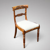 Set of 6 William IV Satin Birch Dining Chairs - Front & Side View - 2