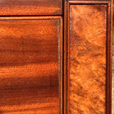 William IV Bow Front Mahogany & Burr Oak Chest of Drawers - Burr Detail - 4