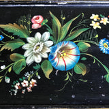Victorian Japanned & Painted Embroidery Frame - Detail View - 3