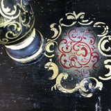 Victorian Japanned & Painted Embroidery Frame - Detail View - 4