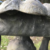 Victorian Lead Birdbath - Detail View of Shell - 7