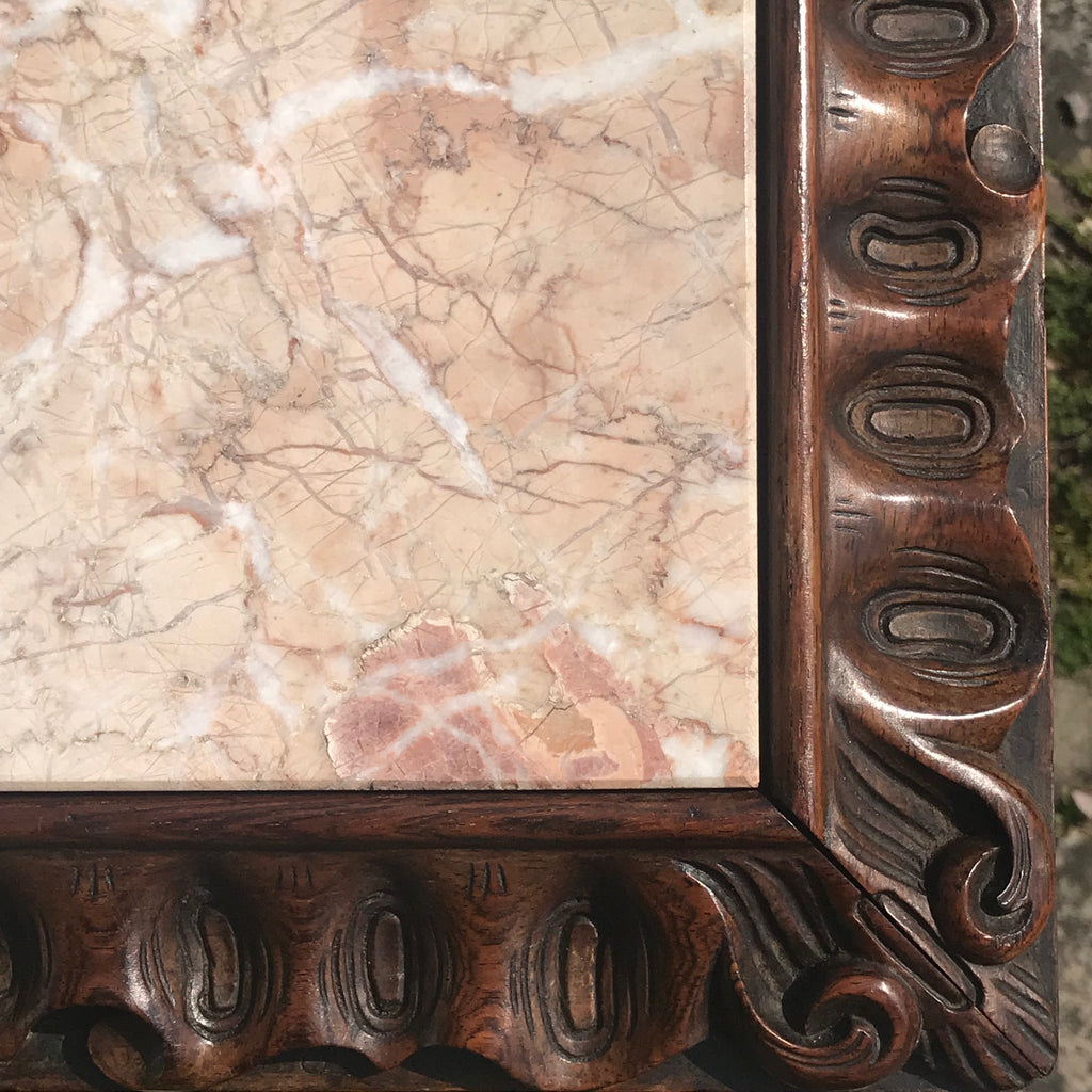19th Century Rosewood Lamp Table with Marble Top - Detail View - 4
