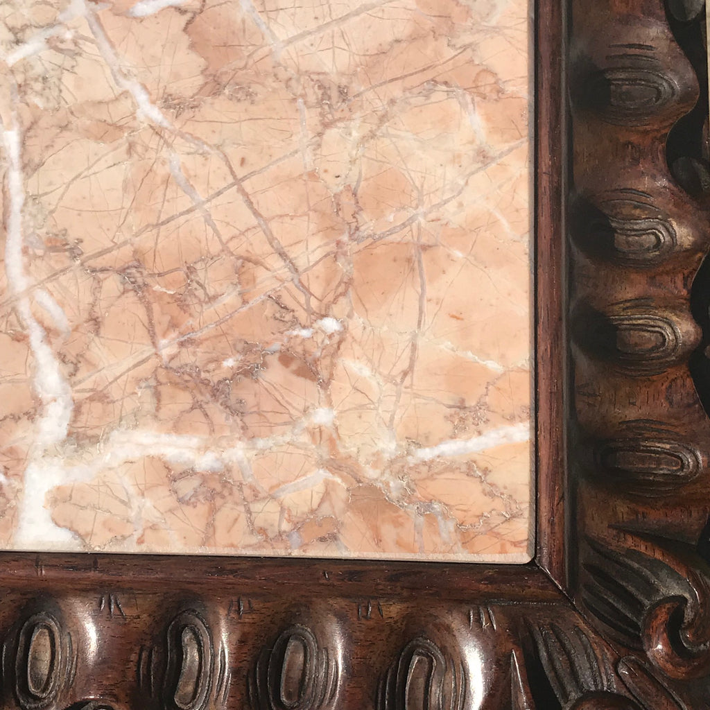 19th Century Rosewood Lamp Table with Marble Top - Detail View - 3