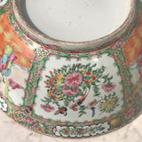 Large 19th Century Cantonese Famille Rose Enamelled Bowl - Detail View - 10