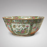 Large 19th Century Cantonese Famille Rose Enamelled Bowl - Main View - 3