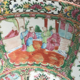 Large 19th Century Cantonese Famille Rose Enamelled Bowl - Detail View - 8